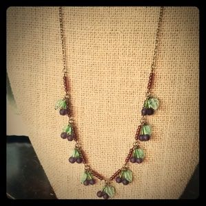 "Vintage ""Grape Soda"" Glass bead Necklace"